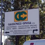 Calcestruzzi Cipiccia, tabella impianto e uffici