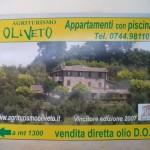 Cartello stradale Agriturismo Oliveto