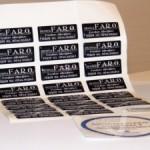 Etichette stampate e resinate a caldo