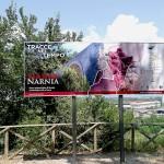 """Segnaletica percorso """"Antica Via Flaminia"""" - Narni (Narnia)"""