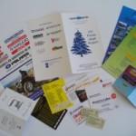 Tipografia: pieghevoli biglietti e cards