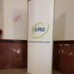Struttura Totem e grafica per ERG spa