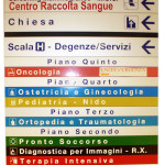 Segnaletica interna Ospedale di Orvieto