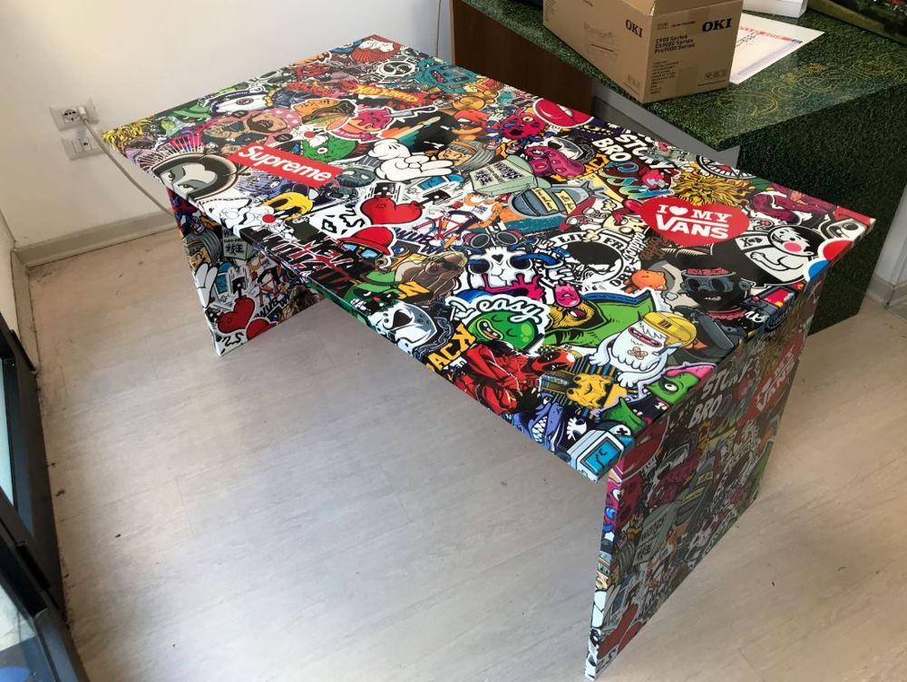 wrapping scrivania